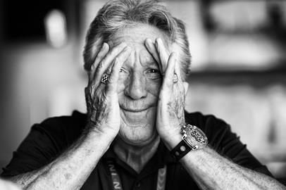 This is what you get when you ask Mario Andretti to show you his winner/championship rings. His reaction was priceless.