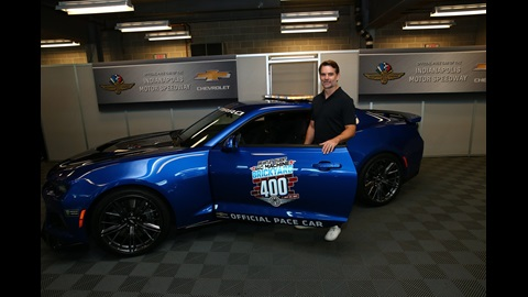 Pace car driver Jeff Gordon.